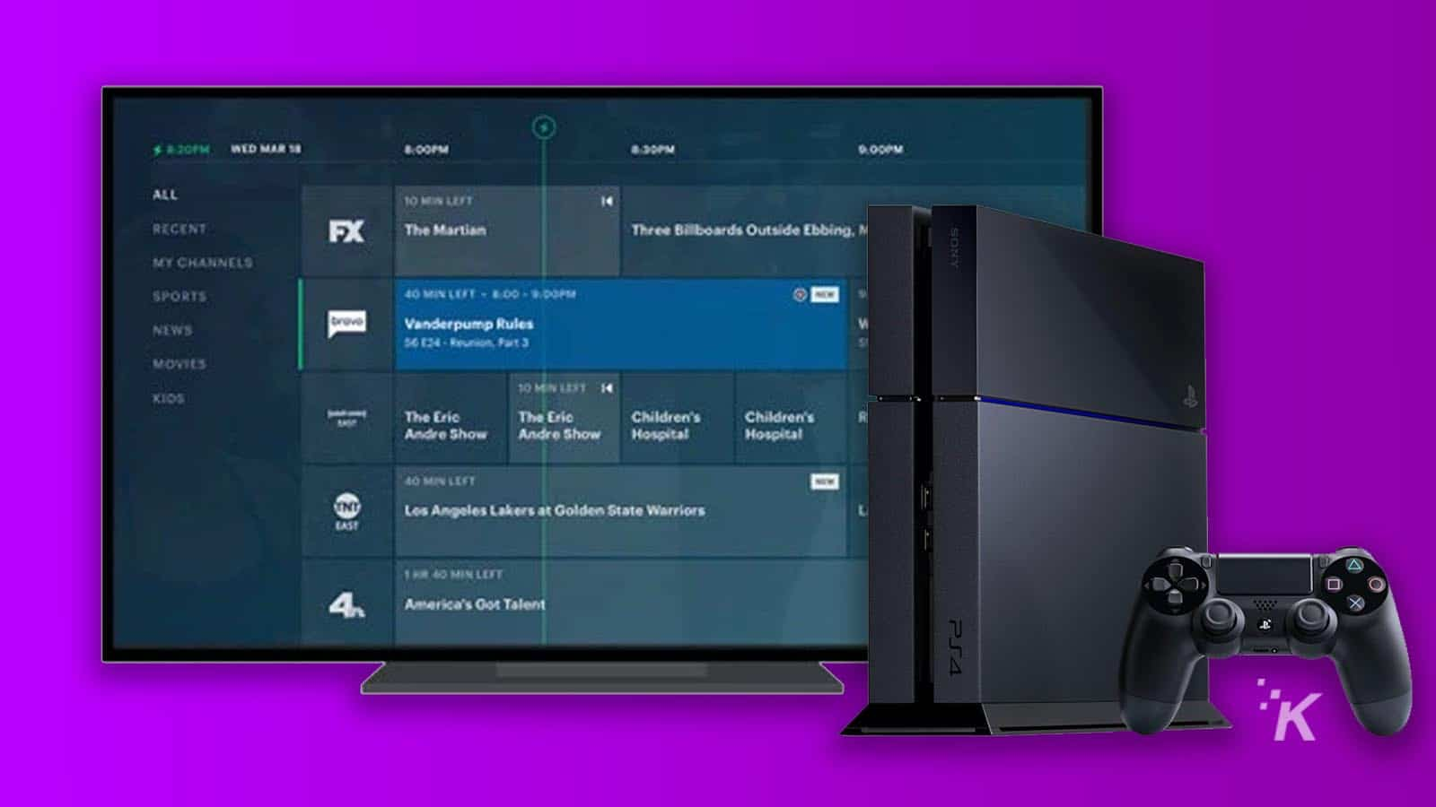 hulu with live tv on playstation 4