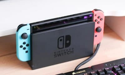 nintendo switch on desk