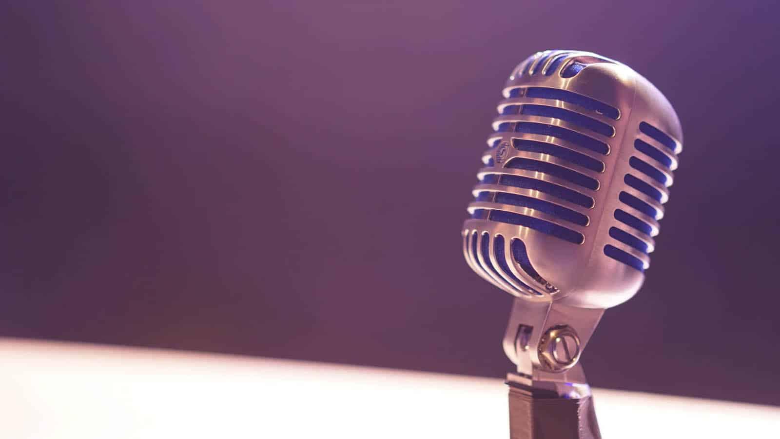 radio microphone on desk