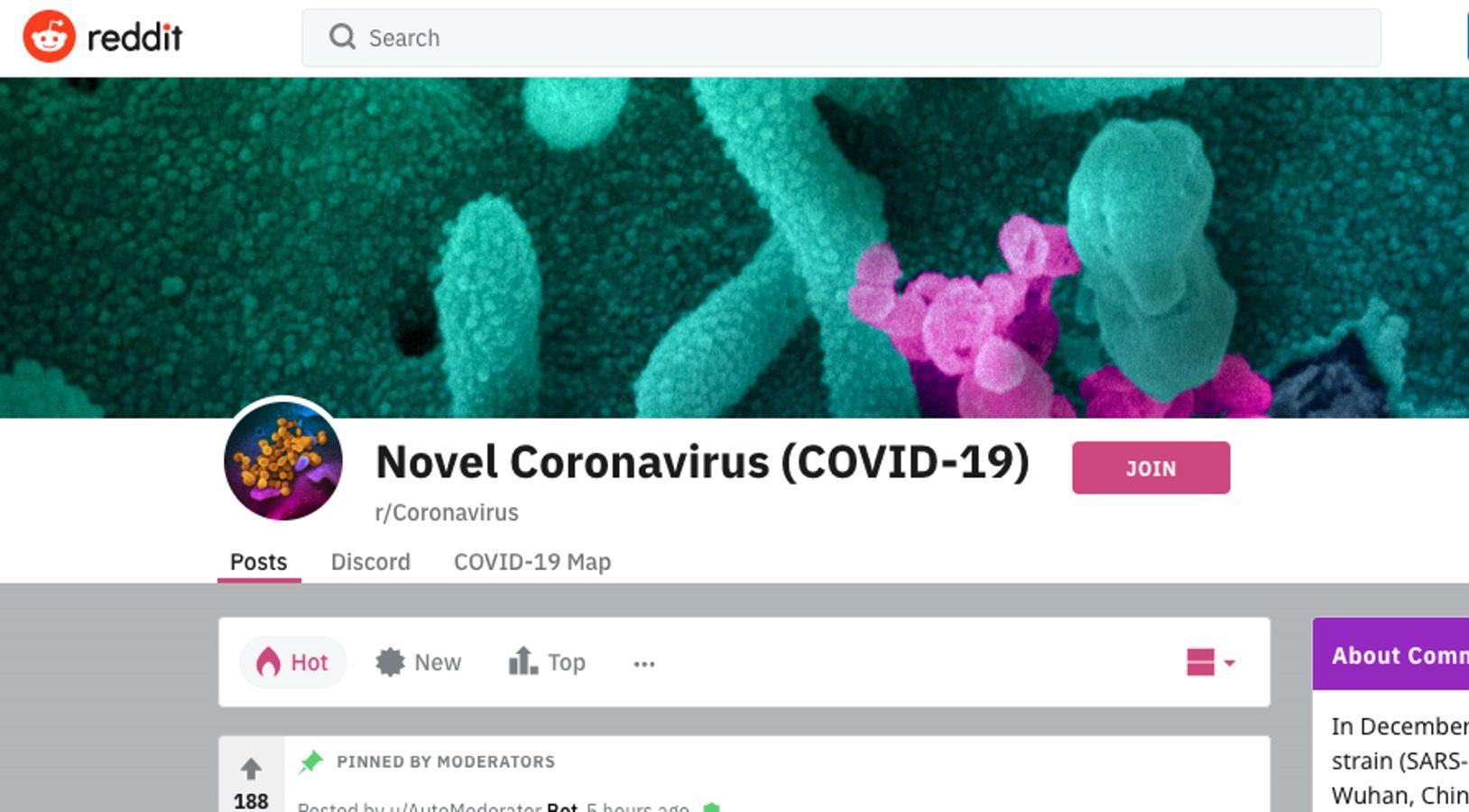 reddit /r/coronavirus