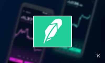 robinhood logo on blurred background