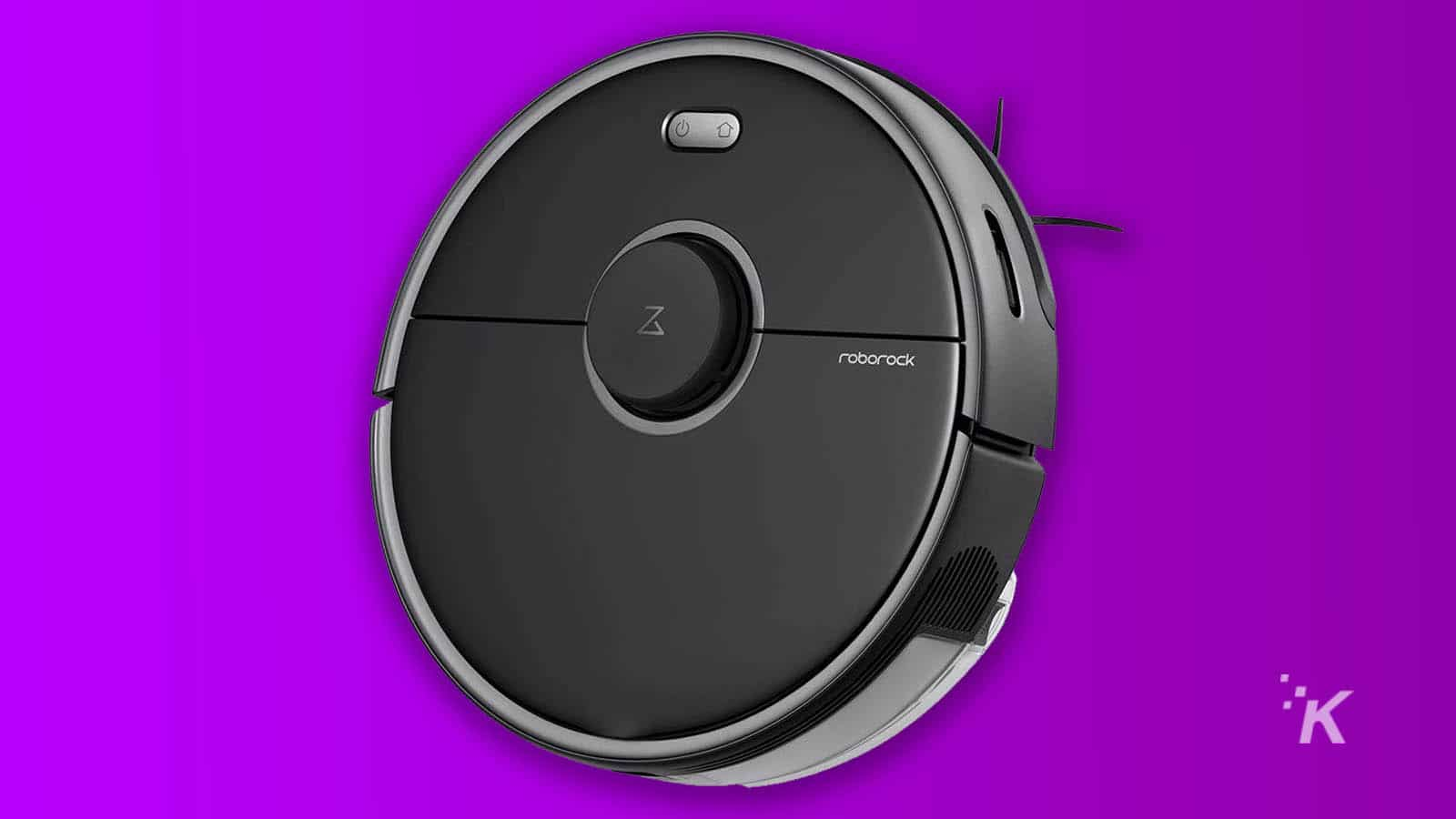 roborock s5 max on purple background