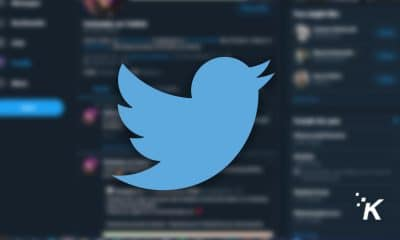 twitter logo on dark background