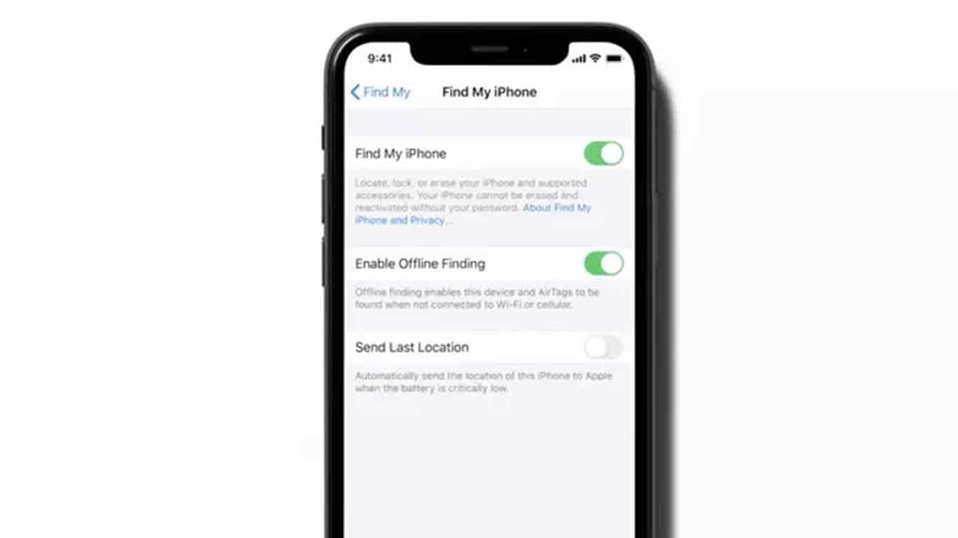 airtags on iphone