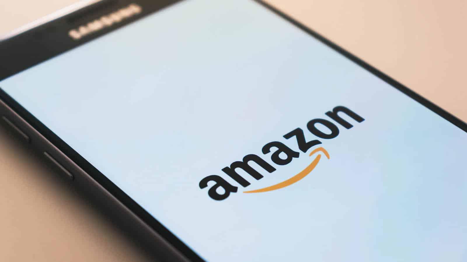 amazon on smartphone