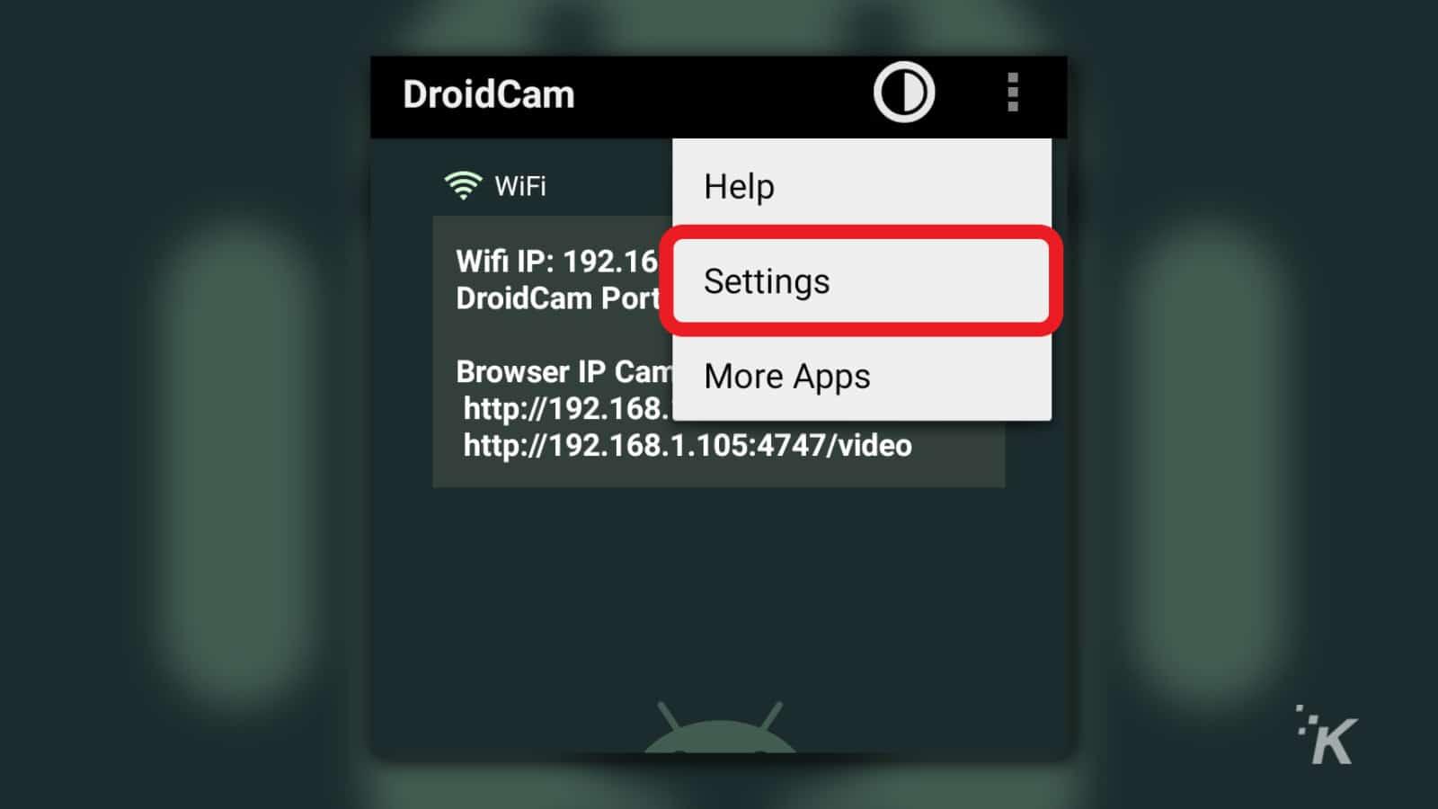 droidcam webcam app