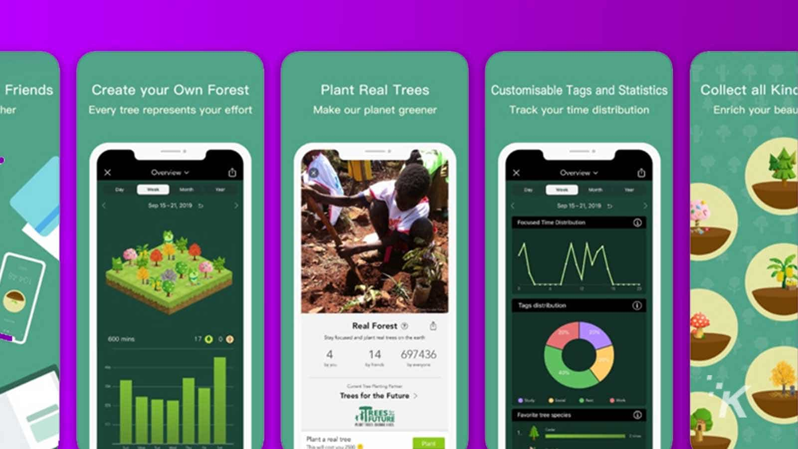 forest productivity app on android and ios