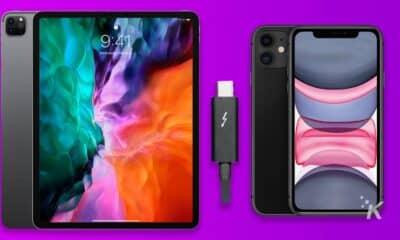 ipad pro charging an iphone