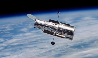 nasa's hubble telescope in space