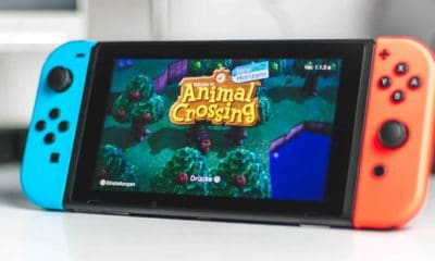 nintendo switch playing animal crossing