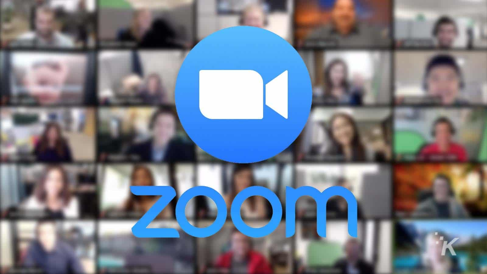 zoom app logo and background