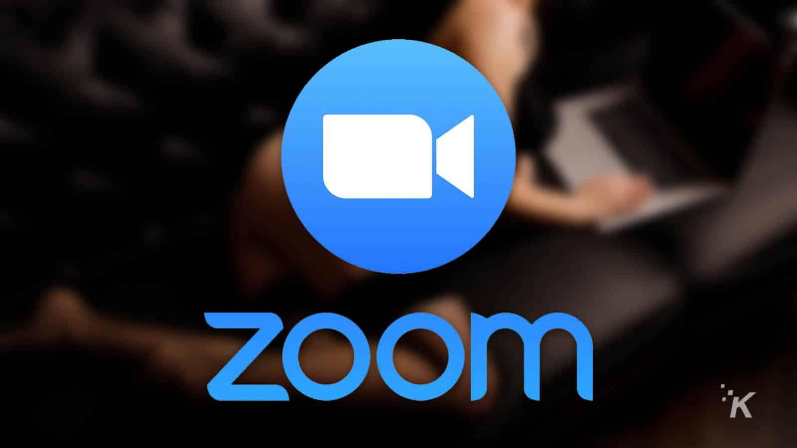 zoom logo on provocative background