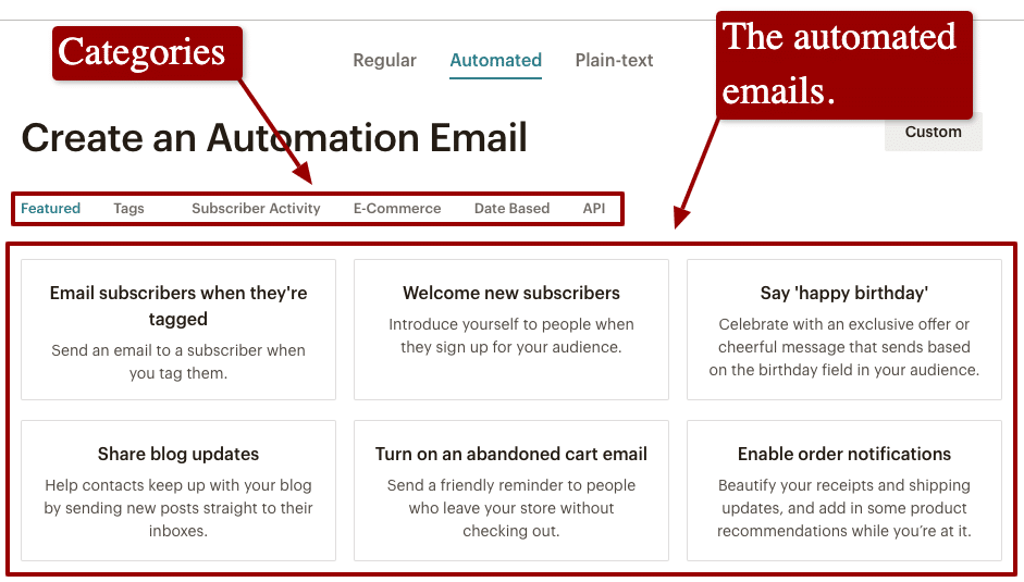 automation email