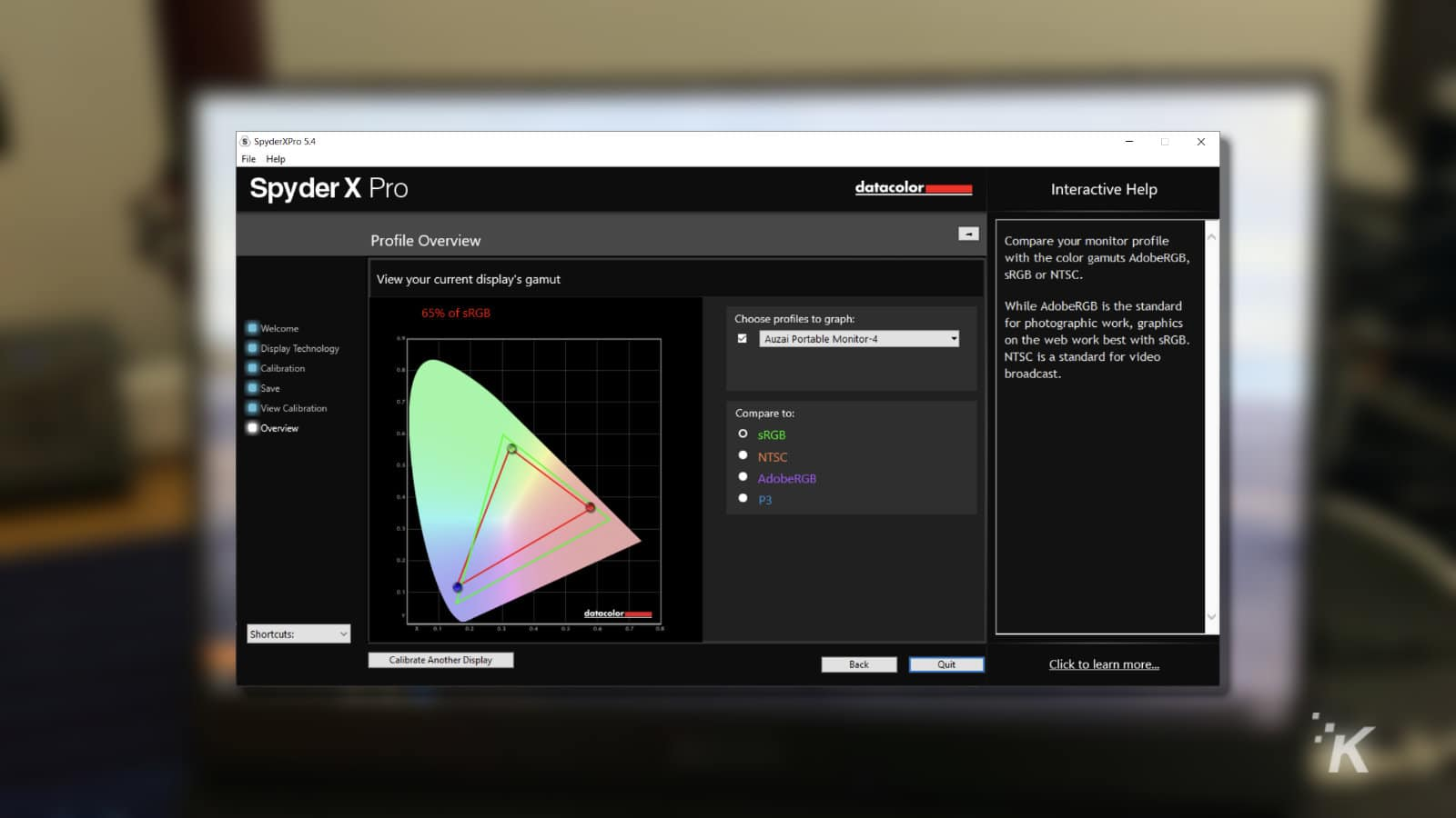 spyder x pro stats for monitor