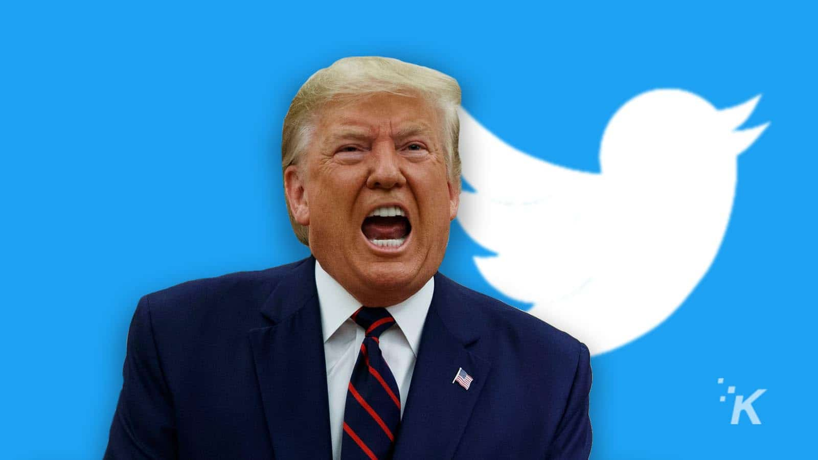 donald trump with twitter logo signing executive order