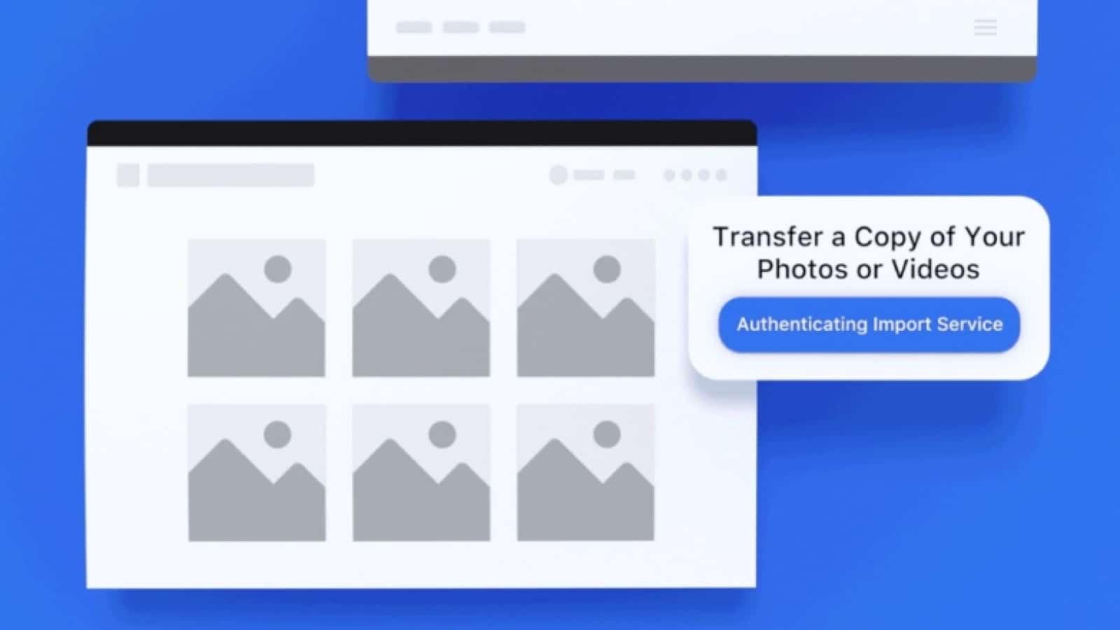 facebook's photo transfer tool