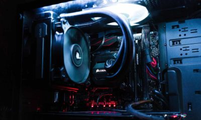 gaming pc on table