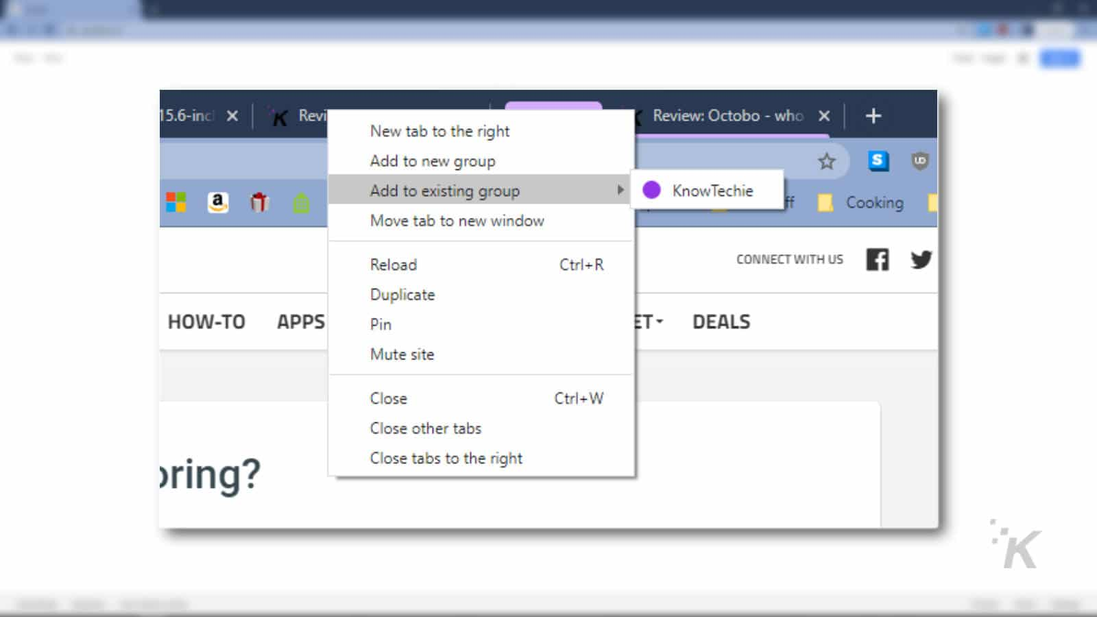 how to group tabs on browser