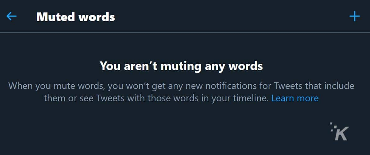 muted words on twitter