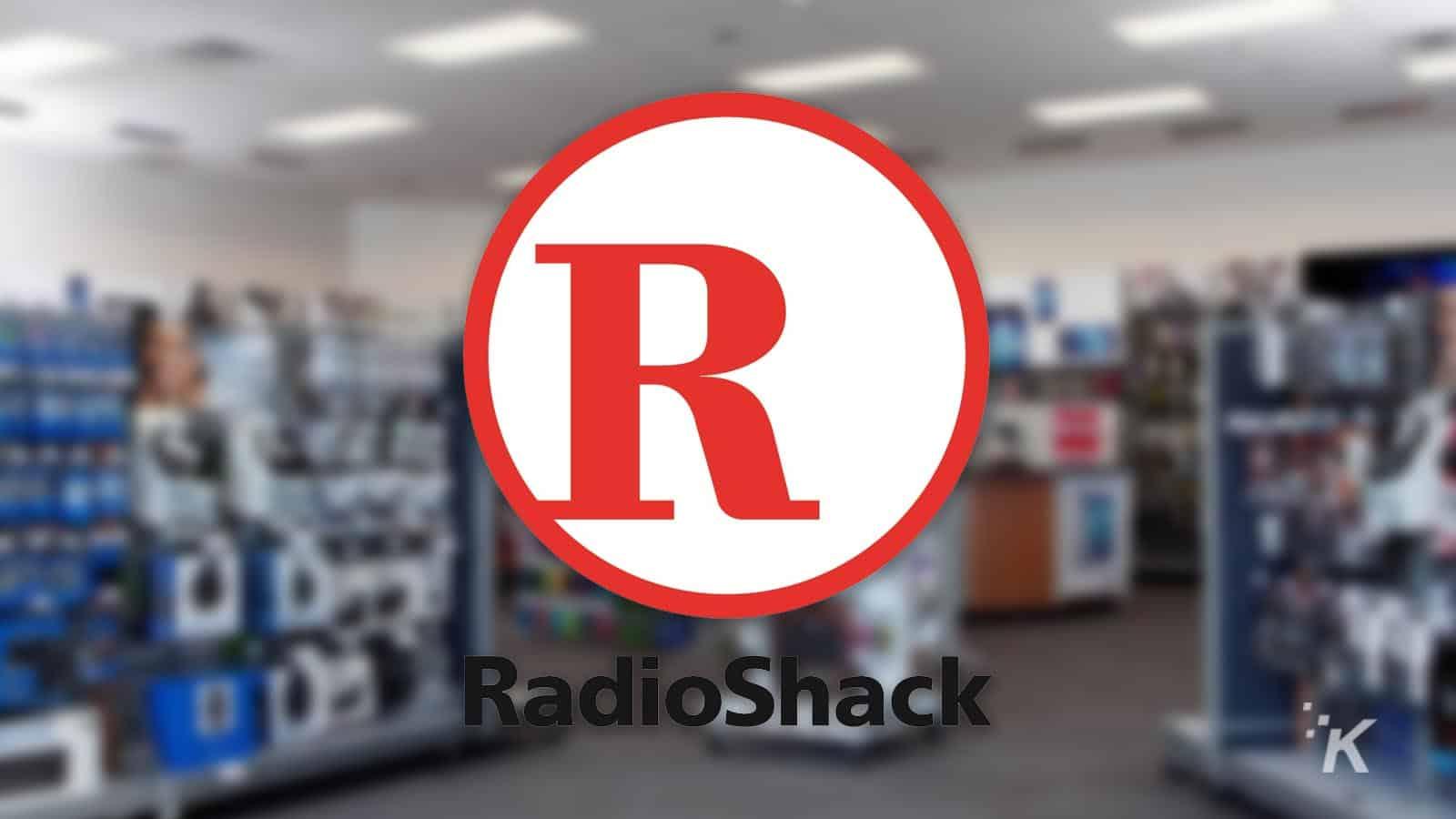 radioshack logo on blurred background