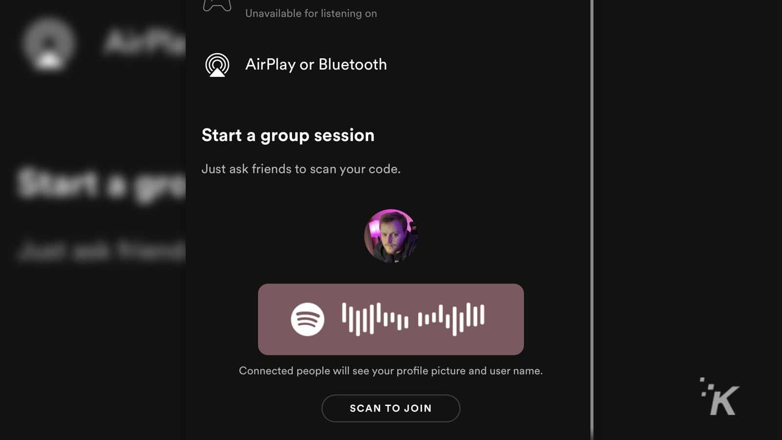 spotify group session how to