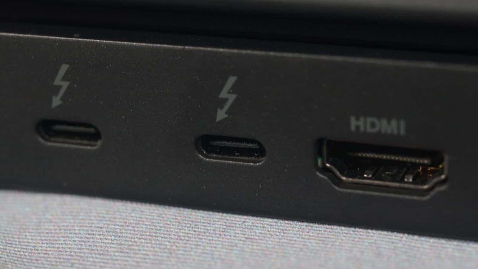 thunderbolt ports on computer