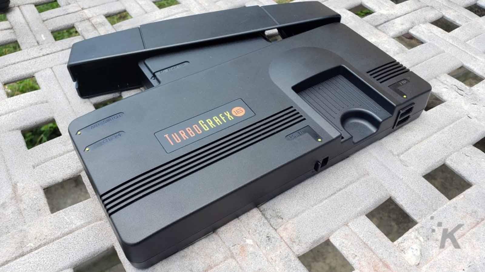 turbografx-16 mini on table