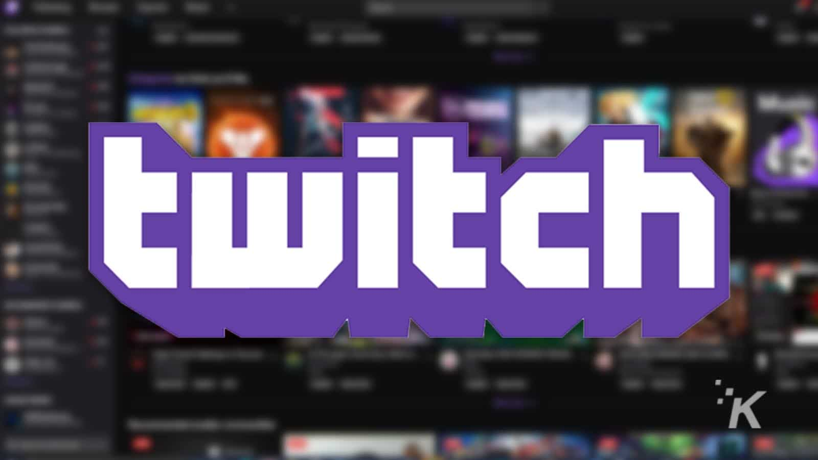 twitch logo with blurred background