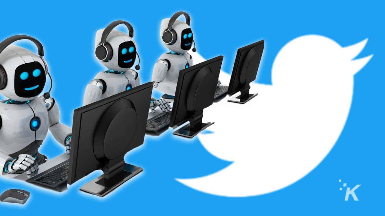 twitter bots on twitter background