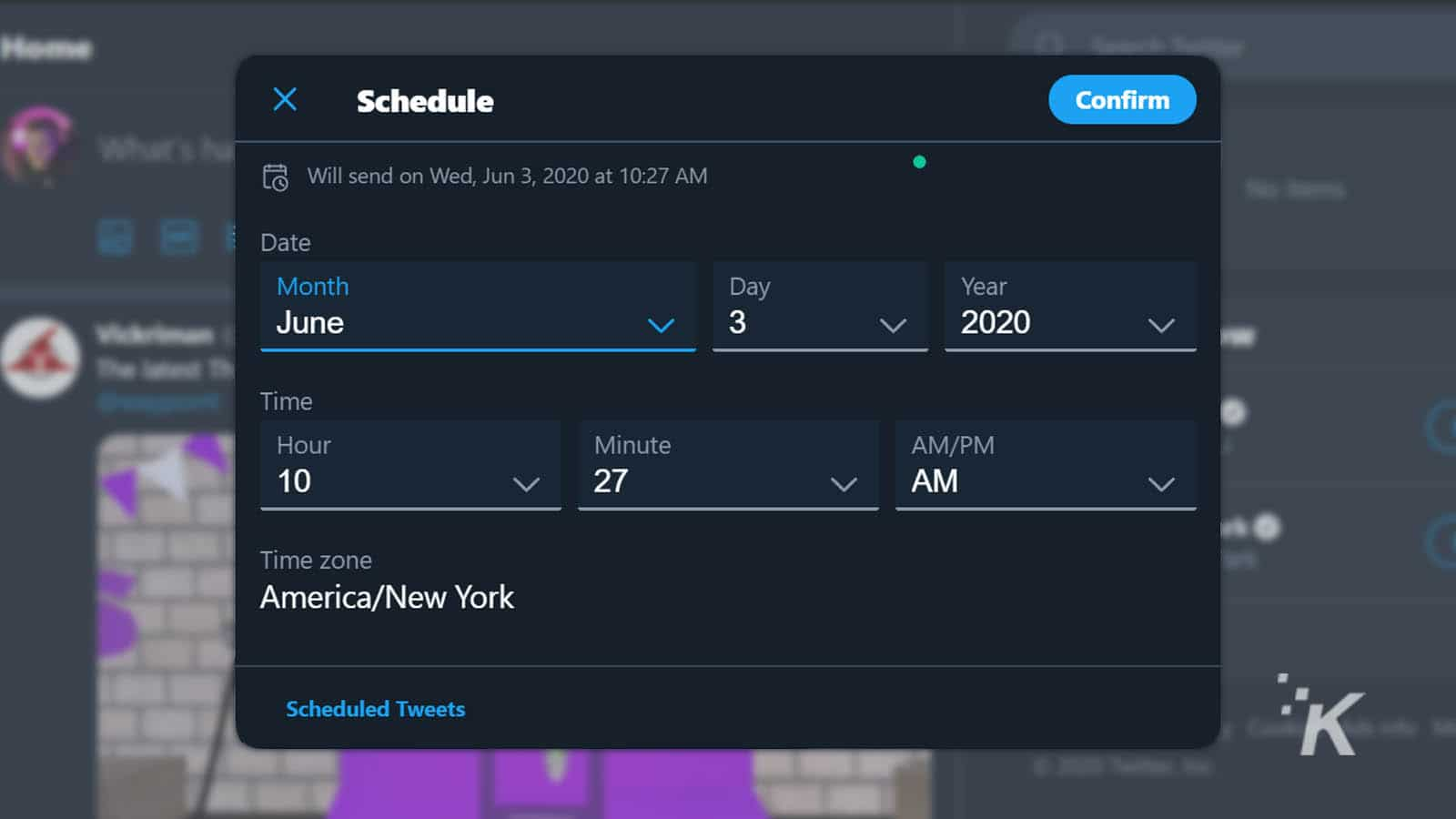 scheduling tweets on twitter website