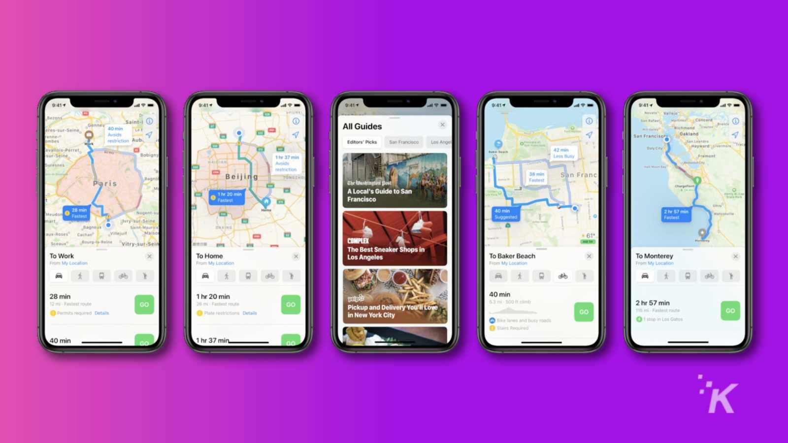 apple maps ios 14