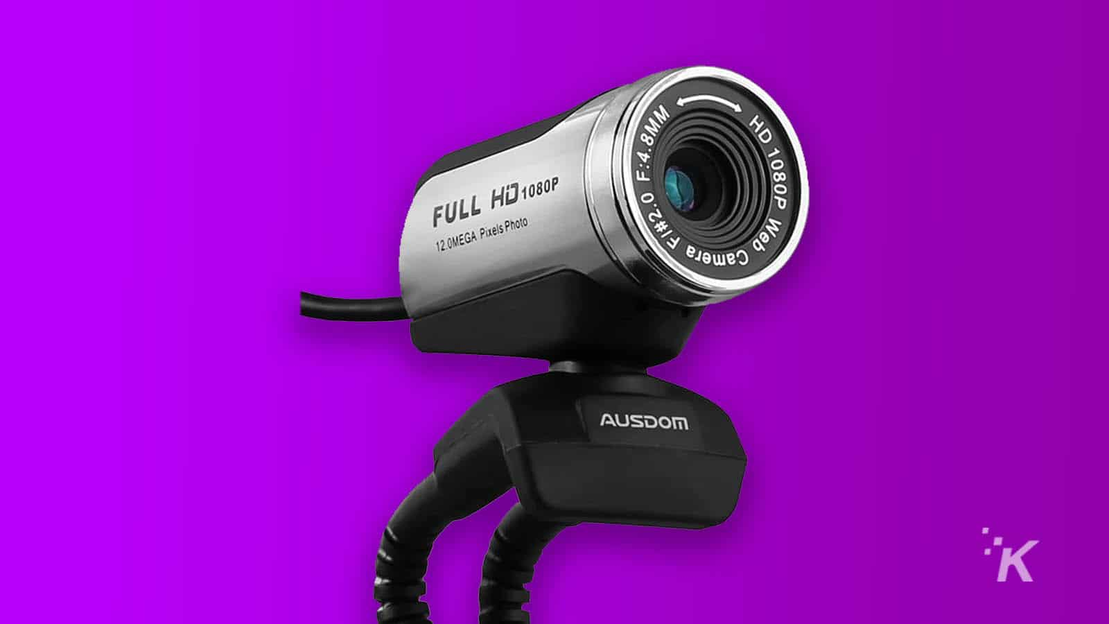 ausdom webcam on purple background