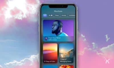 calm app on cloud background