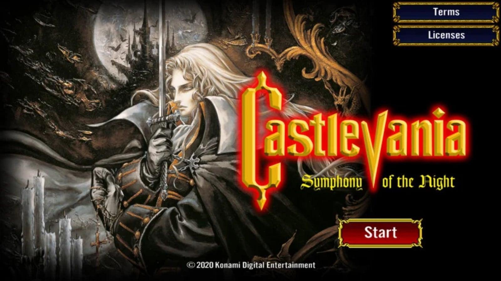 castlevania symphony of the night start screen