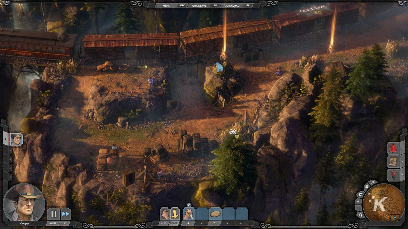 gameplay from western tactical title