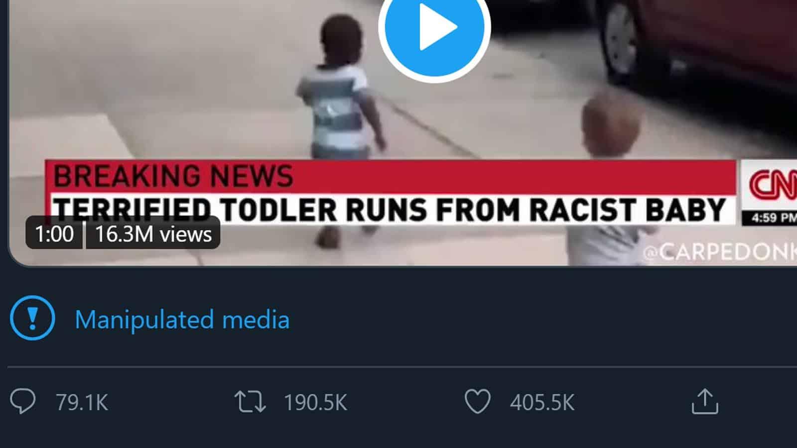 donald trump manipulated media tweet