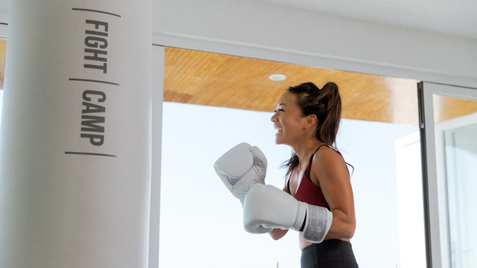 fightcamp boxing bag being used for fitness