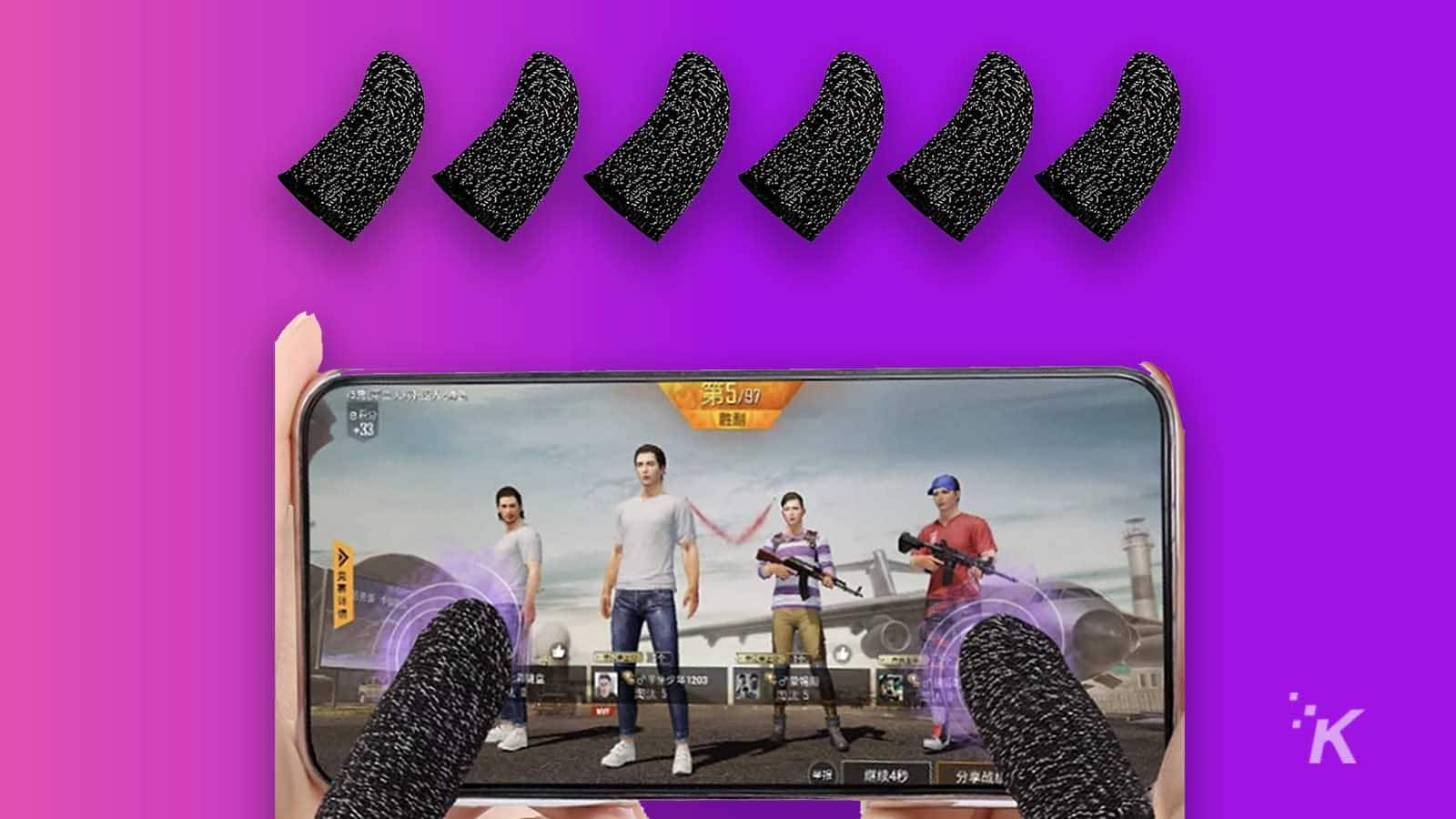 finger grips for mobile gaming