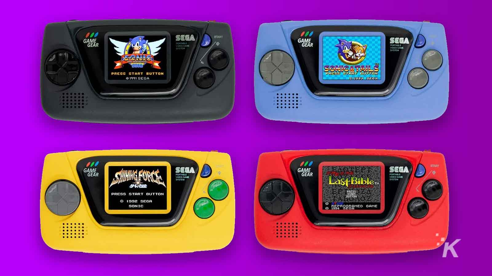 game gear micro in different colors