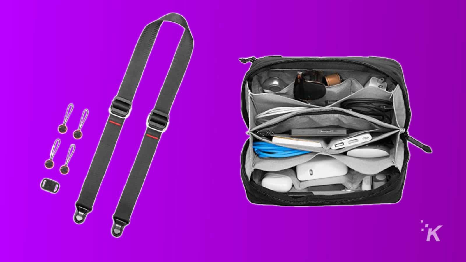 peak design slide lite strap and tech pouch father's day
