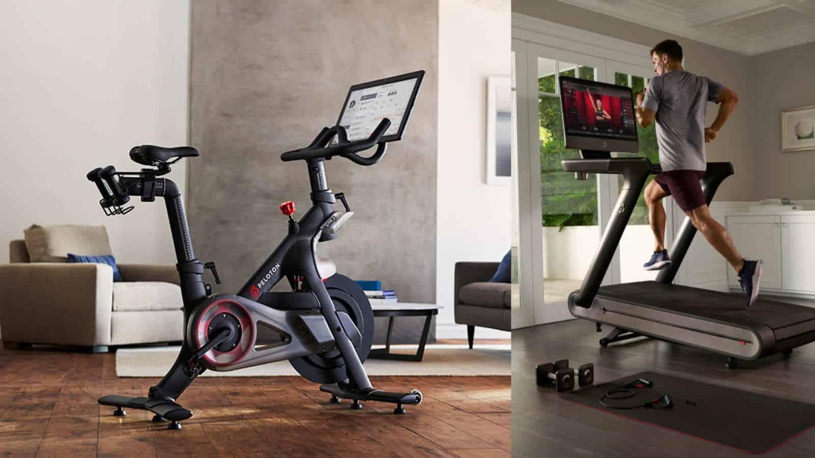 peloton bike and tread exercise equipment