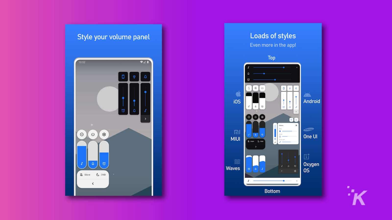 volume styles app