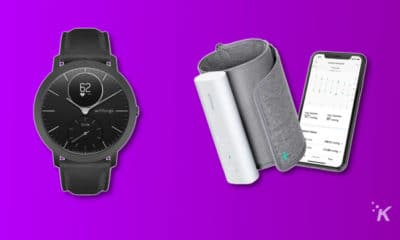 withings hr steel smartwatch and bpm connect blood pressure monitor
