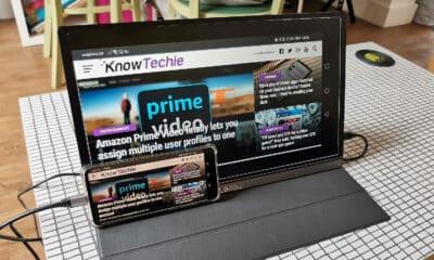 lepow screen displaying mobile content via usb c