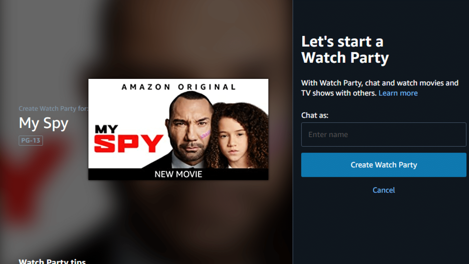 amazon prime watch party
