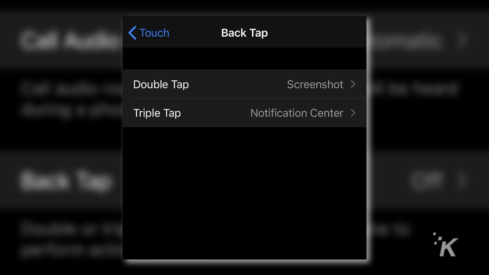 ios 14 back tap settings