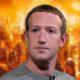 mark zuckerberg up in flames