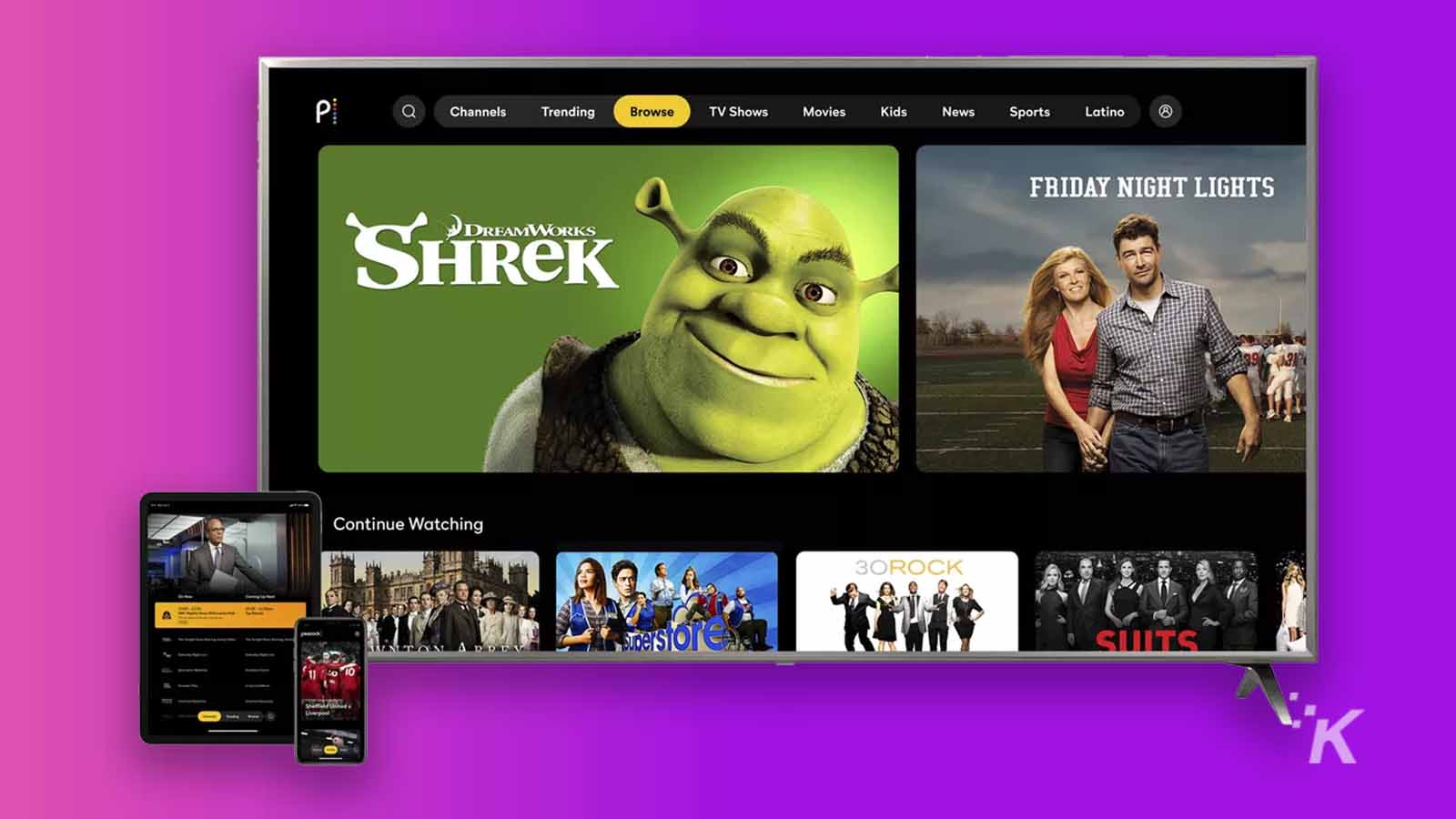streaming service on tv