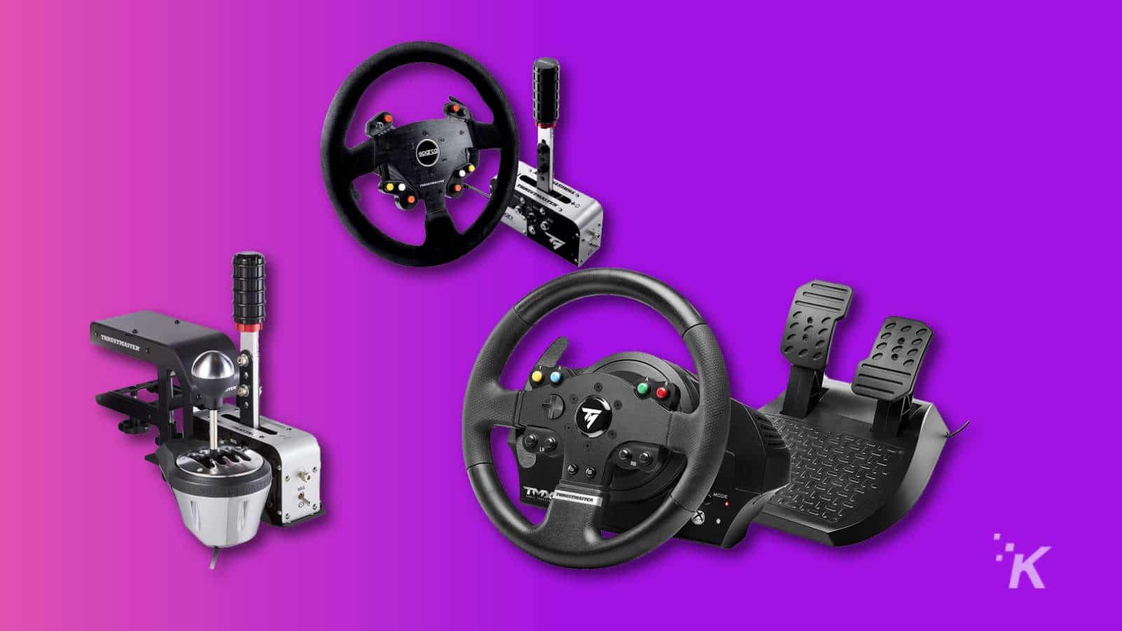 thrustmaster racing sim gear