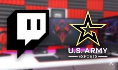 twitch and us army esports logos